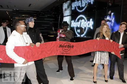 Black Eyed Peas Open the Hard Rock Hotel